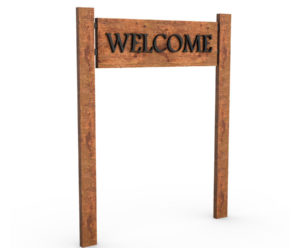 Free 3D Wooden Welcome Sign Model
