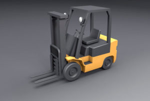 Free 3D low Poly Forklift Model