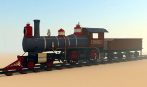Free 3d Old Train Locomotive