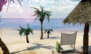 Free C4D Beach Scene