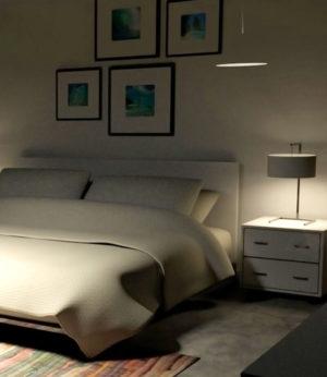 Free C4D Bedroom Scene