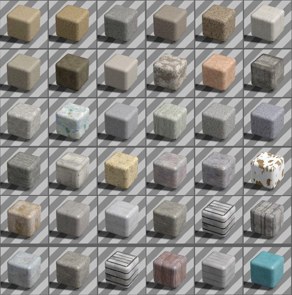 Free Cinema 4D Concrete Textures Pack - Free C4D Models