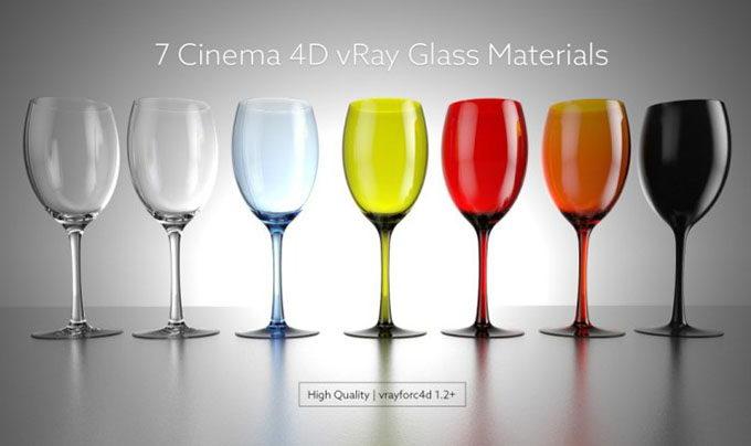 Free Cinema 4D Glass Materials Vray - C4D Download