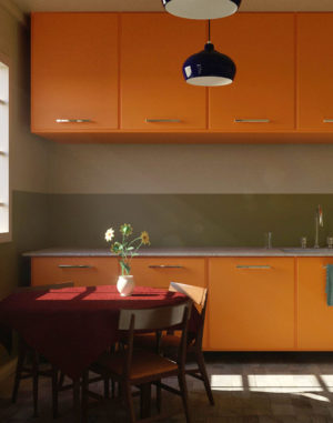 Free Cinema 4D Kitchen Scene