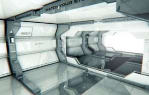 Free Cinema 4D Sci-Fi Room Scene