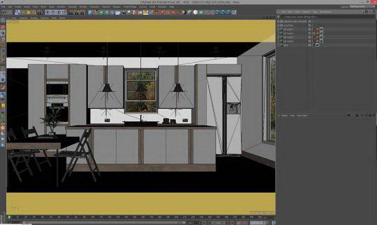 Free Cinema 4d Kitchen Scene - Free C4D Models