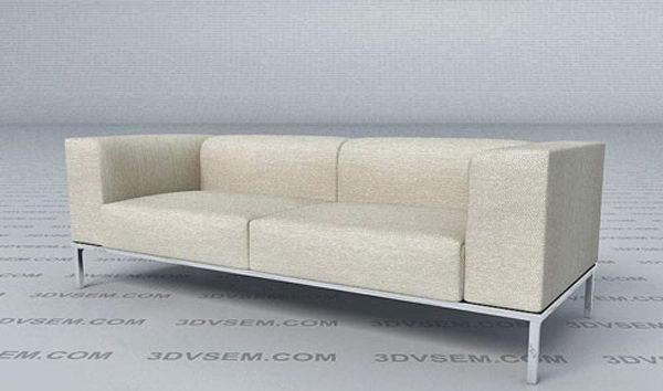 Free Double Sofa 3D Model