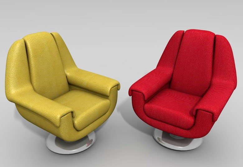 Free Leather 3D Armchair Model