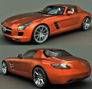 Free Mercedes Benz Sls 3D Model