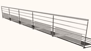 Free Railing 3D Model