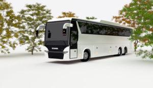 Free Scania Bus 3D Model