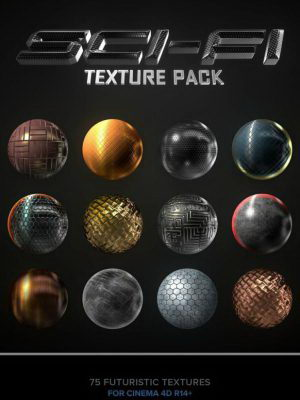Free Sci-Fi Texture Pack For Cinema 4D