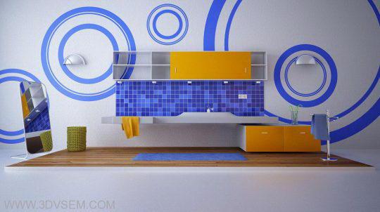 Vray interior bathroom free scenes - Free C4D Models