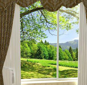 Free Window Curtain 3D Model