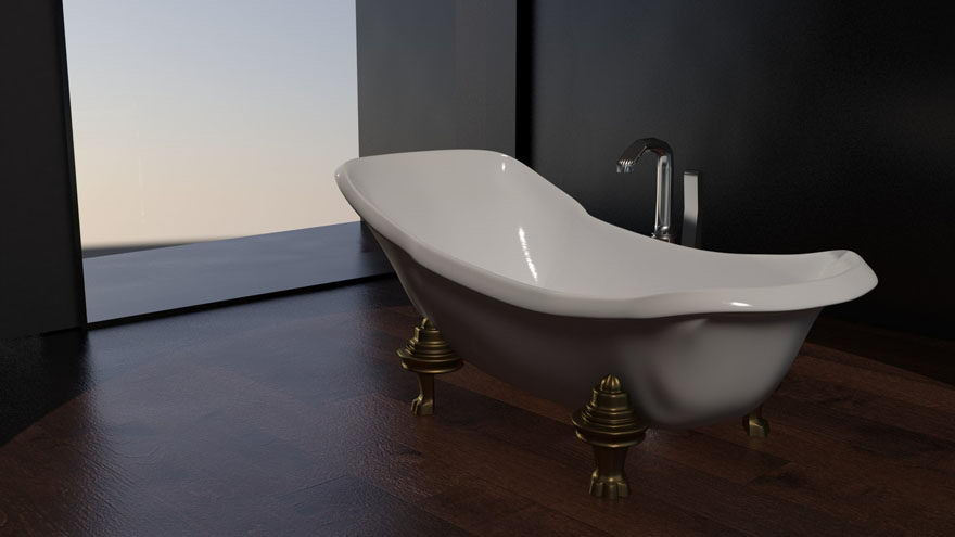 Freestanding Bath 3D Model
