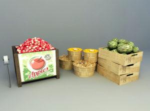 Friut Market Display 3D Model