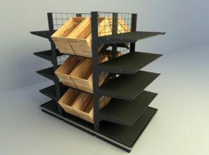 Fruit Shelves 3D Model