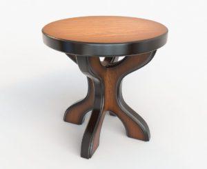 Full Wood Stool 3D Model