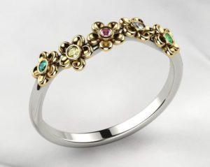 Gemstones Kids Ring 3D Model