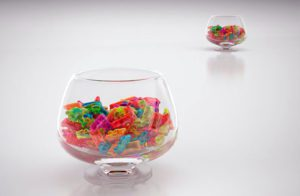 Glass Bowl With Candies 3D Model