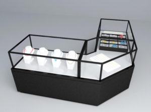 Glass Jewelry Showcase 3D Model