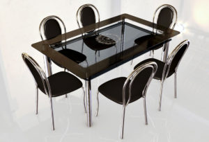 Glass Table Free 3D Model