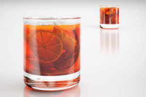 Glass of Drink With Orange  3D Model