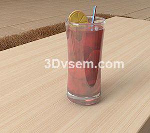 Glass of Ice Tea 3D Model
