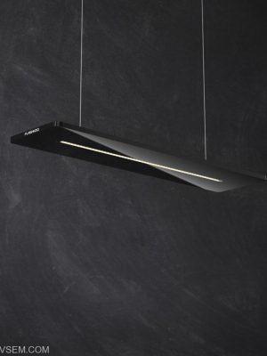 Glossy Black Ceiling Lamp 3D Model