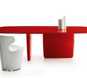 Glossy Work Table 3D Model