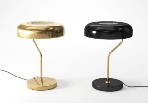 Gold Metal Desk Lamp 3D Model