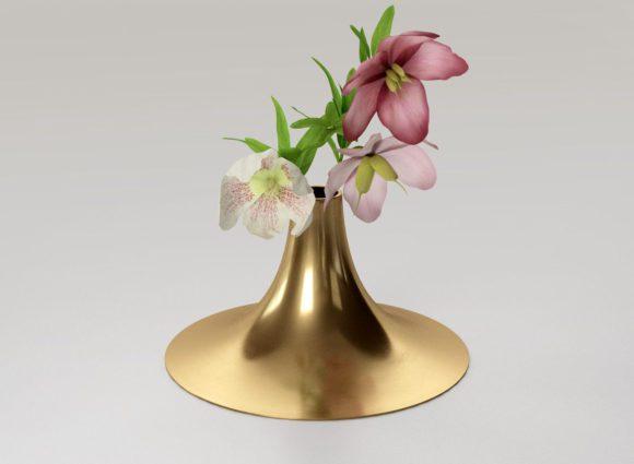 Gold Metal Vase 3D Model