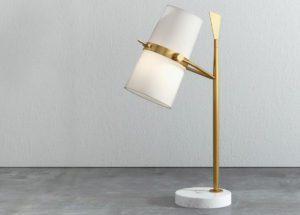 Gold Table Lamp 3D Model