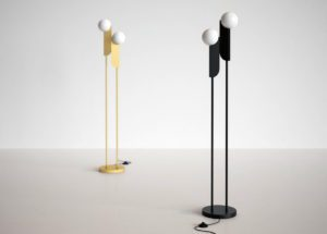 Gold and Black Floor Lamp 3D Model