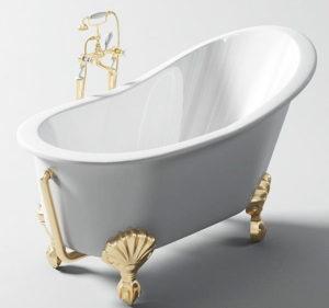 Golden Bathtub 3D Model