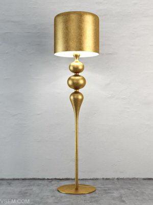 Golden Floor Light 3D Model