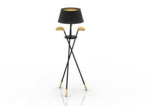 Golf Style Floor Lamp 3D Model