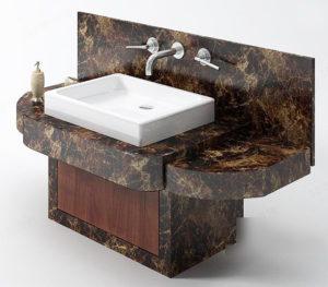 Granite Bathroom Sink 3D Model