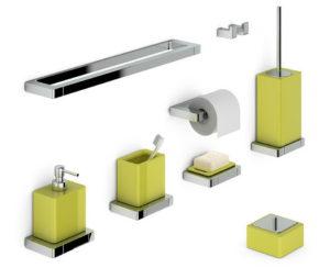 Green Bathroom Accessories 3D Model