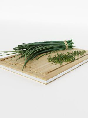 Green Onion 3D Model
