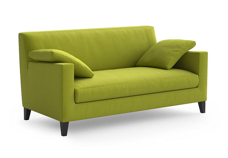 Green Sofa and Arm Chair 3D model
