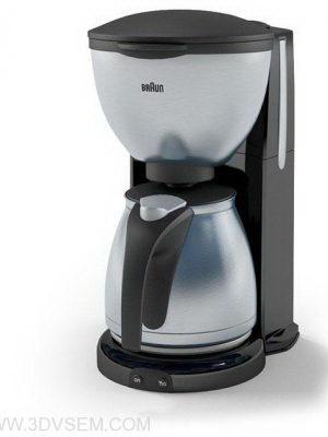 Grey Coffee Maker 3D Model