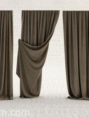 Grey curtain 3D Model