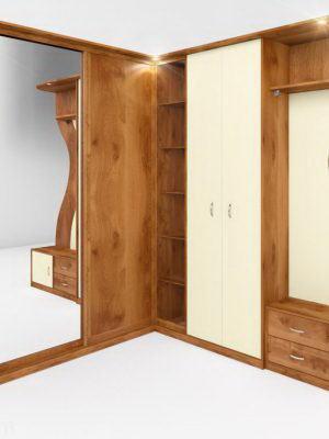 Hallway with Wardrobe 3D Model