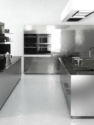 Hi-Tech Kitchen Design 3D Model