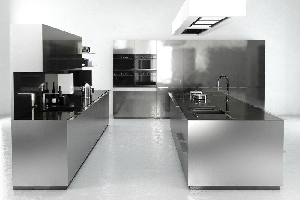 Hi-Tech Kitchen Design 3D Model