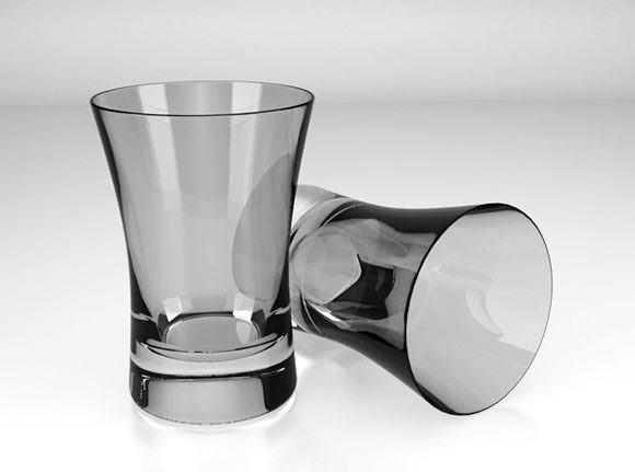 High Detailed Glass 3D Model