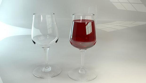 High Detailed Wine Glass 3D Model