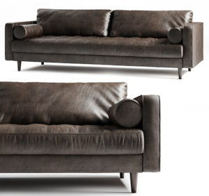 High quality leather Sofa 3D Model