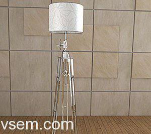 High-tech Floor Lamp 3D Model